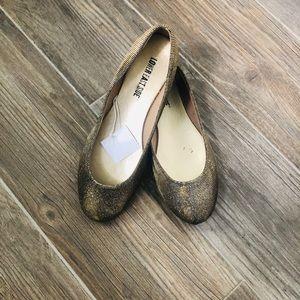 Bronce/ Platinum Ballerina Flats.